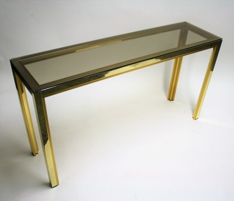 Brass console table by Renato Zevi, 1970s