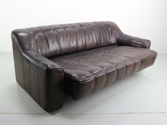 3-Seat Leather 'DS-44' Sofa by De Sede, 1970s