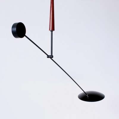 Black counter balance light by Herda, 1980s