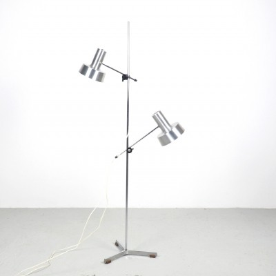 Fog & Morup counterblance floor lamp with 2 spots, 1960's