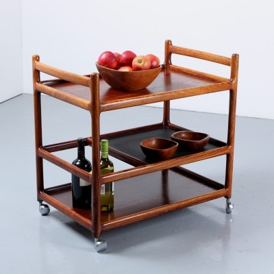 Rosewood multiple level bar trolley by Johannes Andersen, 1950s