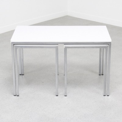 Set of 3 nesting tables by Cees Braakman for Pastoe, 1960s