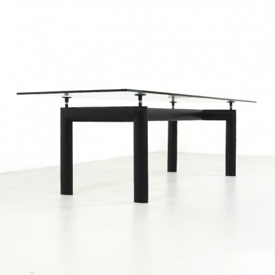 LC6 dining table by Le Corbusier & Pierre Jeanneret for Cassina, 1980s