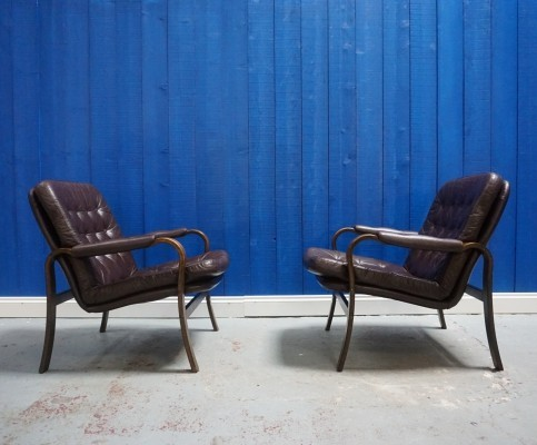 Pair of Göte Möbler arm chairs, 1970s