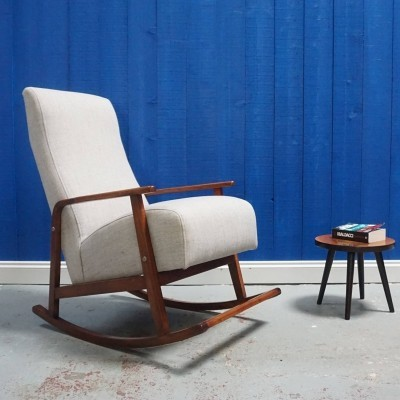 Mid Century Danish Rocking Armchair, 1960's