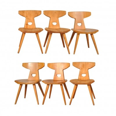 Set of Six Dining Chairs by Jacob Kielland-Brandt for I. Christiansen, 1960s