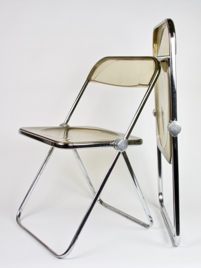 Two foldable 'Plia' chairs by Giancarlo Piretti for Castelli Italy, 1967