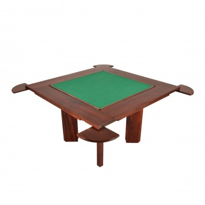 1960s Gaming Table in Solid Rosewood, Italy