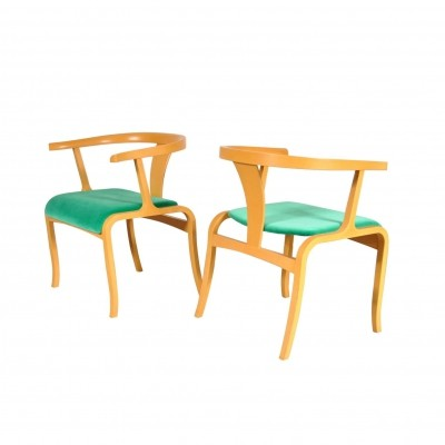Rare Office / Side Chairs manufactured by Tendo, Japan 1960s