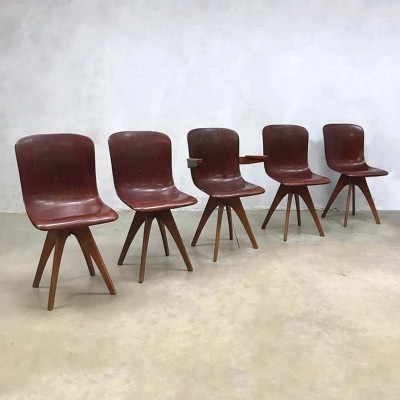 Set vintage industrial chairs by Adam Stegner for Pagholz Flötotto