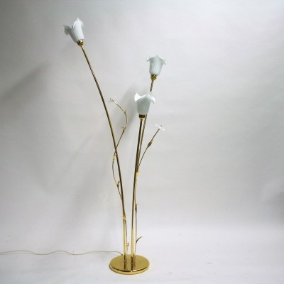 Murano glass flower floor lamp, 1980s