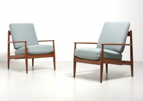 Pair of Model 118 lounge chairs by Grete Jalk for France & Son, 1950s