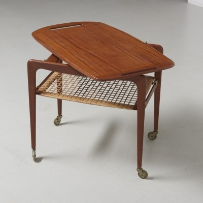 Serving trolley by Johannes Andersen for CFC Silkeborg, 1950s