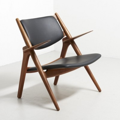 CH28 Sawbuck lounge chair by Hans Wegner for Carl Hansen & Son, 1950s