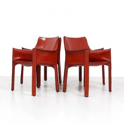 Set of 4 model 413 dining chairs by Mario Bellini for Cassina, 1970s
