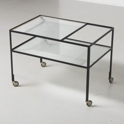 Serving trolley by Herbert Hirche for Holzäpfel, 1950s