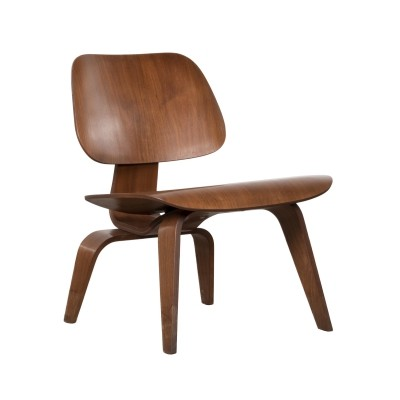 LCW Walnut lounge chair by Charles & Ray Eames for Herman Miller, 1950s