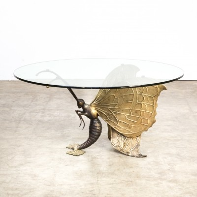 70s Jacques Duval Brasseur brass Coffee Table
