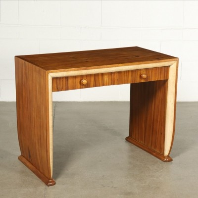 Desk With Lacquered Outlines, 1930s-1940s