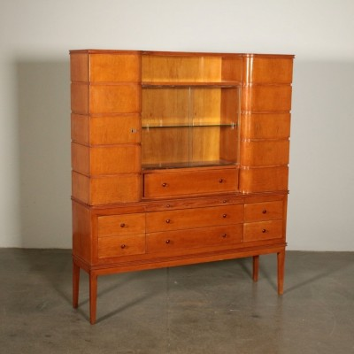 Cabinet with bent hinged doors, 1940s