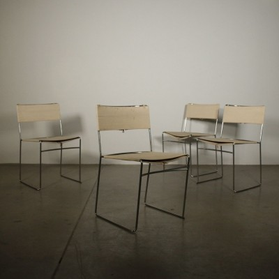 Set of Delfina Chairs by Enzo Mari, 1980s