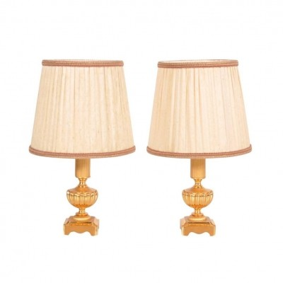 Pair of Signed Sciolari Table Lamps, 1970s