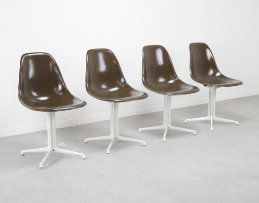 Set of 4 La Fonda dining chairs by Charles & Ray Eames for Herman Miller, 1960s