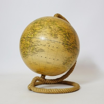 World globe with a rope base by Girard et Barrère.