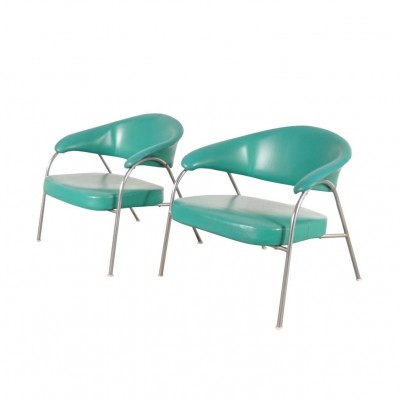 Pair of Rare Easy Chairs by Arflex, Italy 1960s