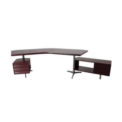 Executive Desk by Osvaldo Borsani for Tecno Milano, Italy 1950s