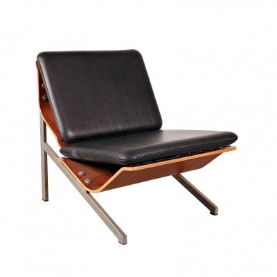 Rare Cornelis Zitman Leather Easy Chair for Pastoe, 1964