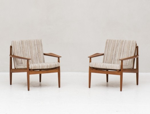 Pair of lounge chairs by Arne Vodder for Glostrup, Denmark 1960s