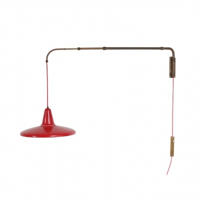 Extendable Wall Lamp, Italy 1950s