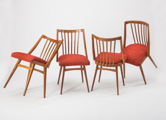 4 x Ton dining chair, 1960s