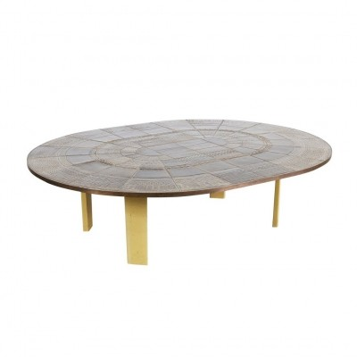 Large Bjorn Wiinblad Ceramic Coffee Table, 1960s