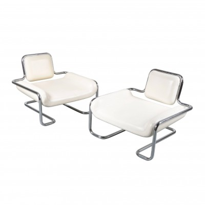 Pair of Limande Chairs by Kwok Hoï Chan for Steiner, France 1971
