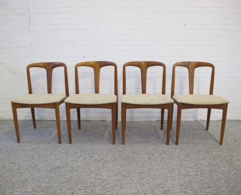 Set of 4 Juliena dining chairs by Johannes Andersen for Uldum Møbelfabrik, 1960s