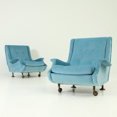 Pair of Regent Armchairs by Marco Zanuso for Arflex