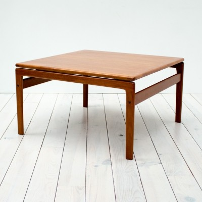 Danish Teak Square Floating Coffee Table by Trioh, 1960s