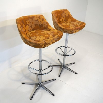 Hardly used 'Flower Power' stools from 1975