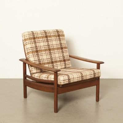1960s square wooden armchair
