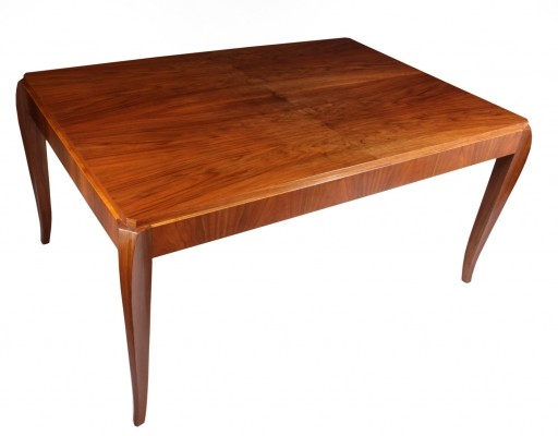 French Walnut Art Deco Dining Table