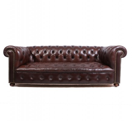 Vintage leather Chesterfield, 1960s