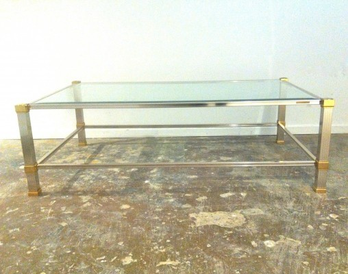 Pierre Vandel Paris Brass & aluminium coffee table