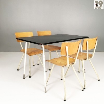 Industrial Design steel & plywood dining suite from the 1950's