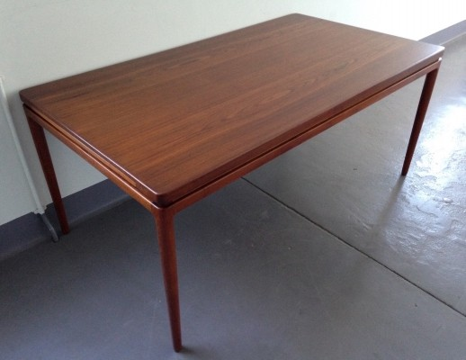 Danish Teak Extending Dining Table by Johannes Andersen for Christian Linneberg