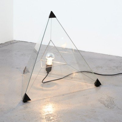 Frans van Nieuwenborg Tetrahedron Table or Floor Lamp for Indoor, 1979