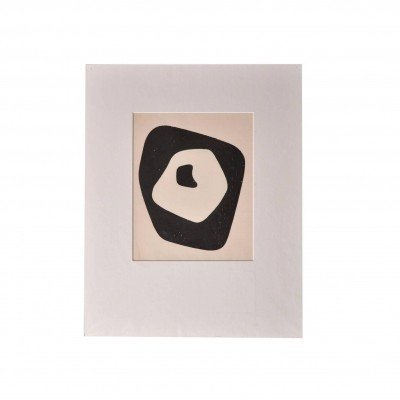 Hand Signed Jean Arp 'Silent Tension' Woodcut, Paris 1951
