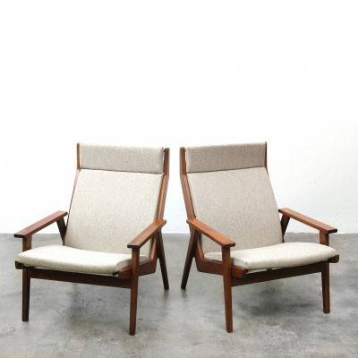 2 x Lotus lounge chair by Rob Parry for Gelderland, 1960s