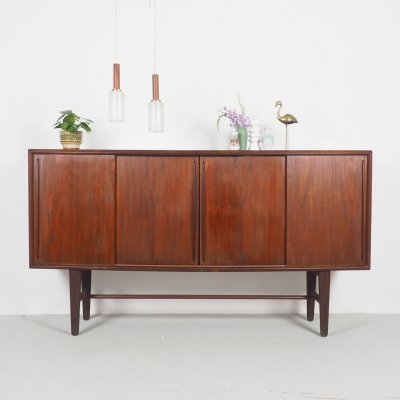 Teak bow front sideboard by Arne Vodder for H.P. Hansen, 1960's